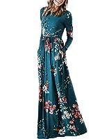 ZESICA Women's Floral Print Long Sleeve Pockets...