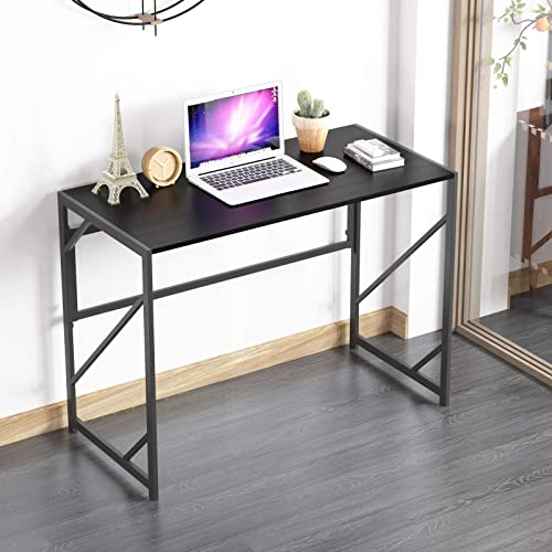 Elephance Folding Computer Desk 39 inches Study Office Desk for Home Office, No-Assembly Writing Desk Foldable Table for Small Spaces
