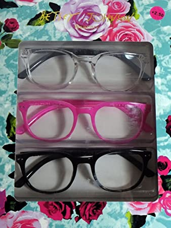 3a09941c9d Image Unavailable. Image not available for. Color  Betsey Johnson Hot Pink  Reading Glasses ...