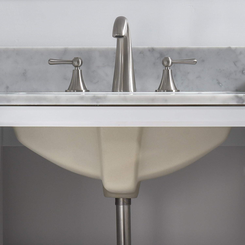 37x22 WOODBRIDGE CAVT3722-4 Vanity Top with Under Mount Bowl CARRA WHITE