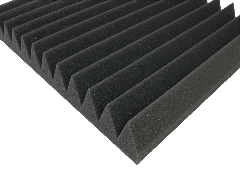 50 Stk.paneel Akustikschaumstoff,Pyramiden Akustik Schaumstoff,Akustik D/ämmung 49 x 49 x 4 cm Farbe Wei/ß