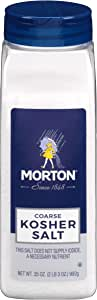 Morton Kosher Salt, Coarse, 35 Ounce
