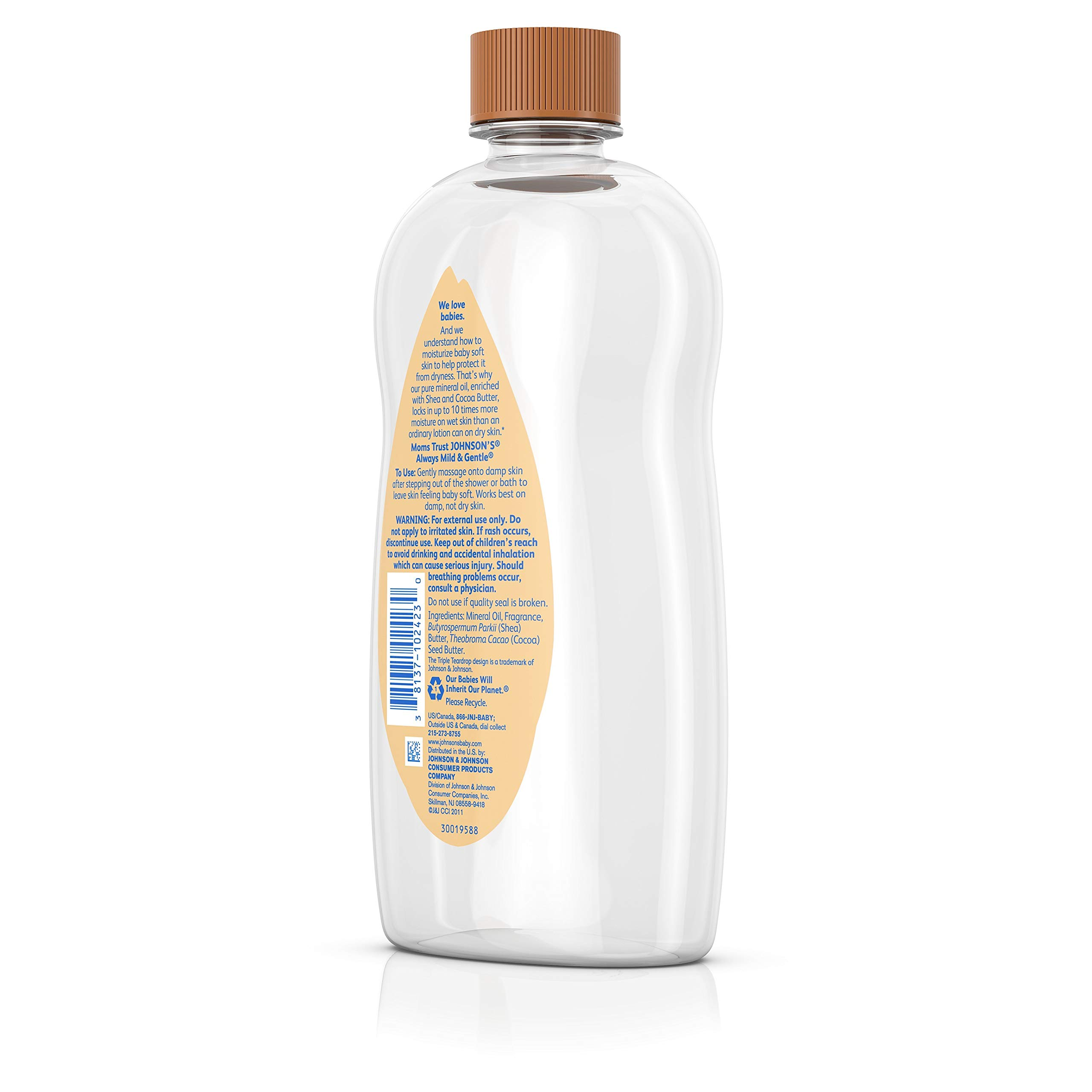 Johnson's Baby Oil With Shea & Cocoa Butter, 20 Fl. Oz by Johnson's Baby (Image #5)