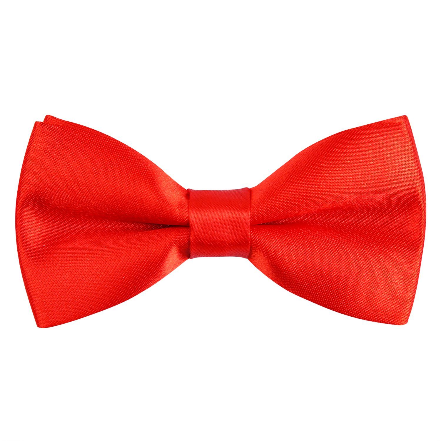 Alizeal Boys Tuxedo Pre Tied Bow Ties (Orange) CA070-Orange