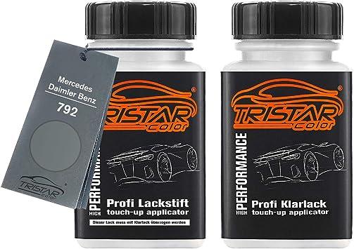 Tristarcolor Autolack Lackstift Set Für Mercedes Daimler Benz 792 Palladiumsilber Metallic Basislack Klarlack Je 50ml Auto