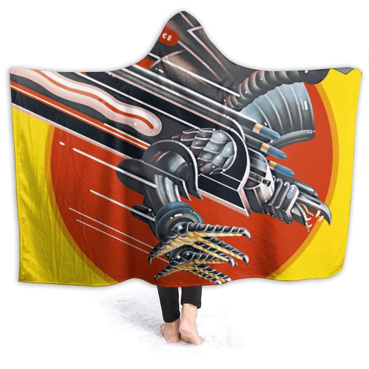 SNTEER Blanket Hoodie Judas Priest Screaming Vengeanc Hooded Throw Blanket Soft Cloak Shawl Wrap for Adult and Kids