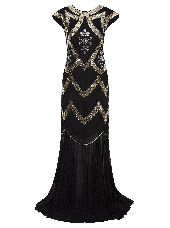Flapper Gown: Amazon.com