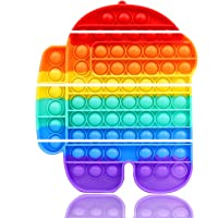 Big Pop Bubble Fidget Sensory Toy Rainbow Robot Huge Large Jumbo Popper Popping Figetget Autism Anxiety Stress Relief…