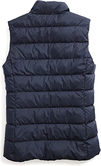 Tommy Hilfiger Damen Puffer Vest with Magnetic Zipper Daunenweste, Masters Navy, X-Small: Odzież