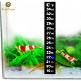 Stick-on Thermometer for Shrimps & Hermit Crabs - Provides Accurate Temperature - Assists in