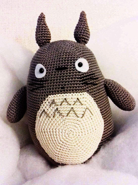 Totoro, erstaunliche Puppe. Häkelpuppe für Kinder und Erwachsene. Geschenkidee. Puppe. handgemachte gepolsterte Puppe.