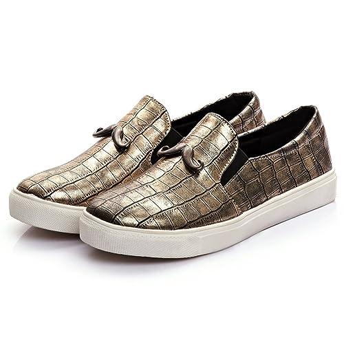 520693105b0 Women Golden Fashion Glitter Slip-On Loafer DolphinGirl Shoes Vacation  Platform Loafer Shiny Bling Comfy