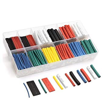 150pcs 2:1 Polyolefin Heat Shrink Tubing Tube Sleeving Wrap Wire Kit Cable SP