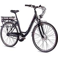 "CHRISSON 28"" Zoll Cityrad ALU Fahrrad E-Bike Pedelec E-Lady mit 7G Shimano Nexus & StVZO schwarz"