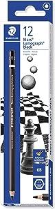 STAEDTLER Mars Lumograph Black Art Pencils, Presharpened #6B Artist Pencils, Box of 12, 100B-6B