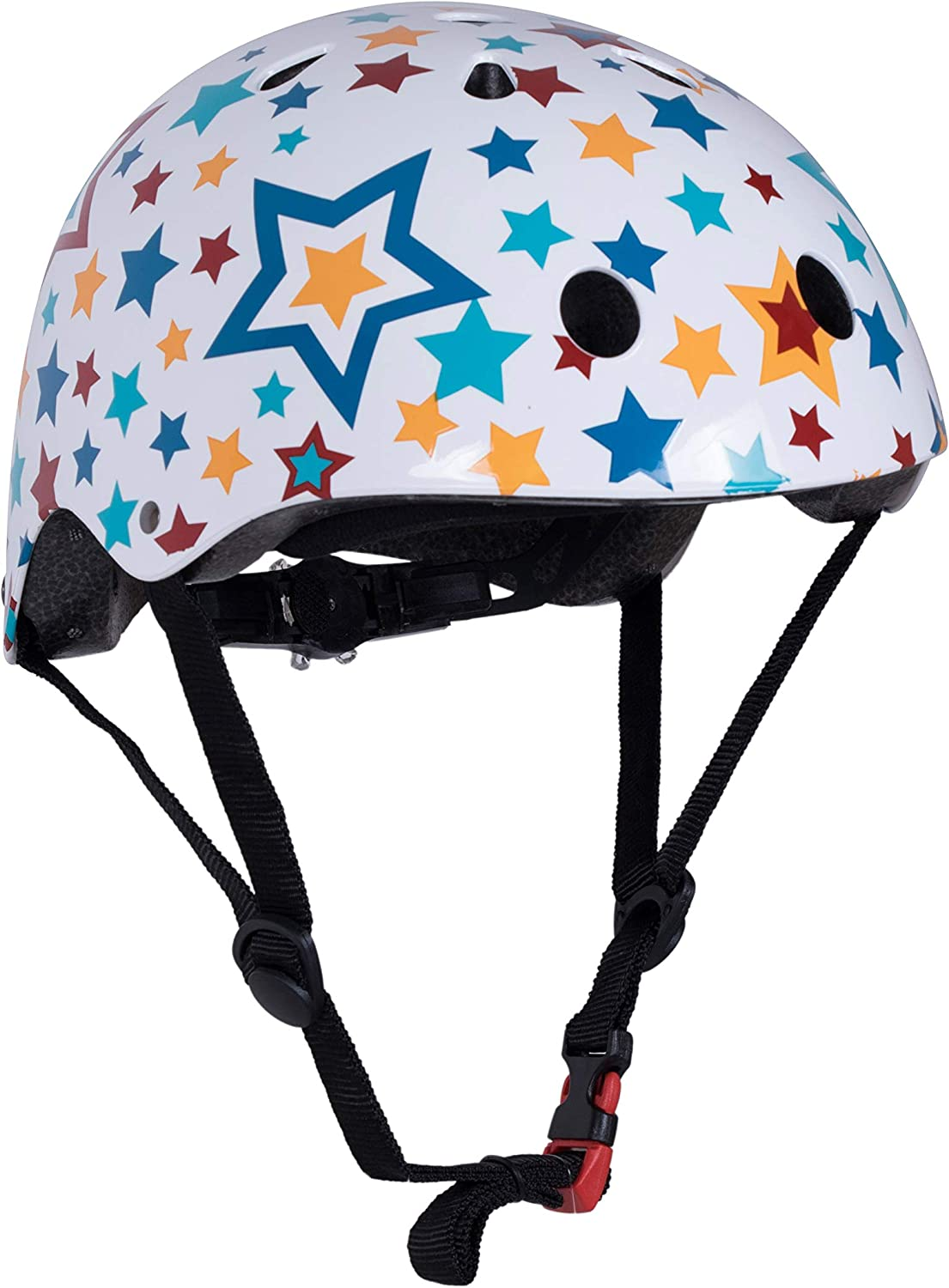 Kiddimoto Patterned Helmet with Dial Adjustment for Kids Children Boys and Girls Small and Medium