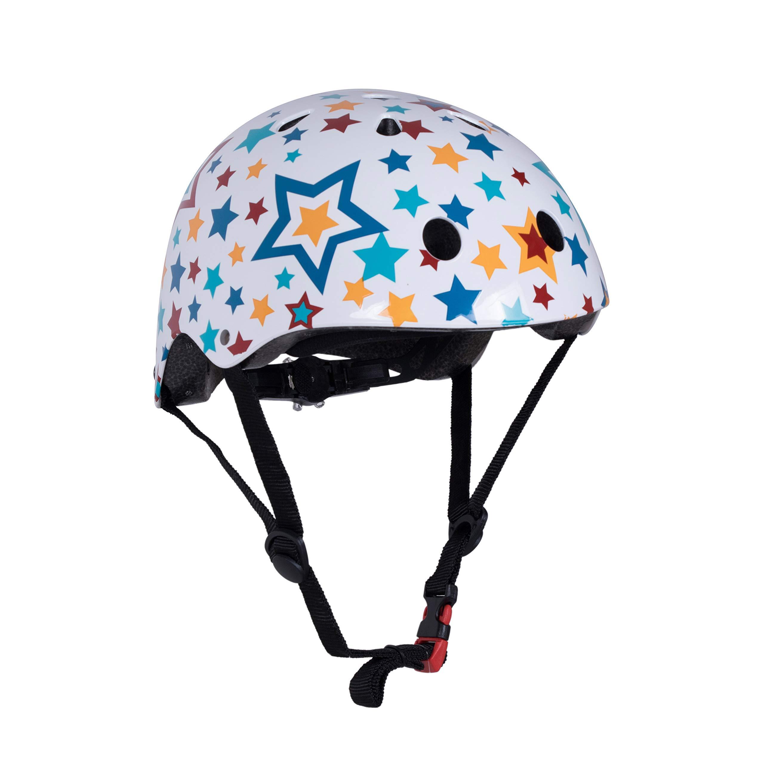 Kiddimoto Kids Patterned Helmet (Starz, Small)