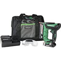 Hitachi NP18DSAL Cordless 23 Gauge Pin Nailer Kit, 18V, Compact 3.0 Ah Lithium Ion Battery, No Push Safety Nose Tip