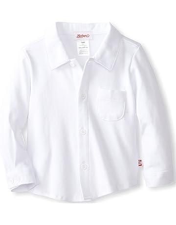 34904c5067b1 Zutano Baby Boys Pastel Solid Long Sleeve Button Shirt
