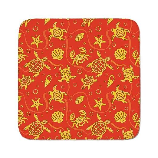 Cozy - Alfombra de cojín para asiento, color naranja quemado ...