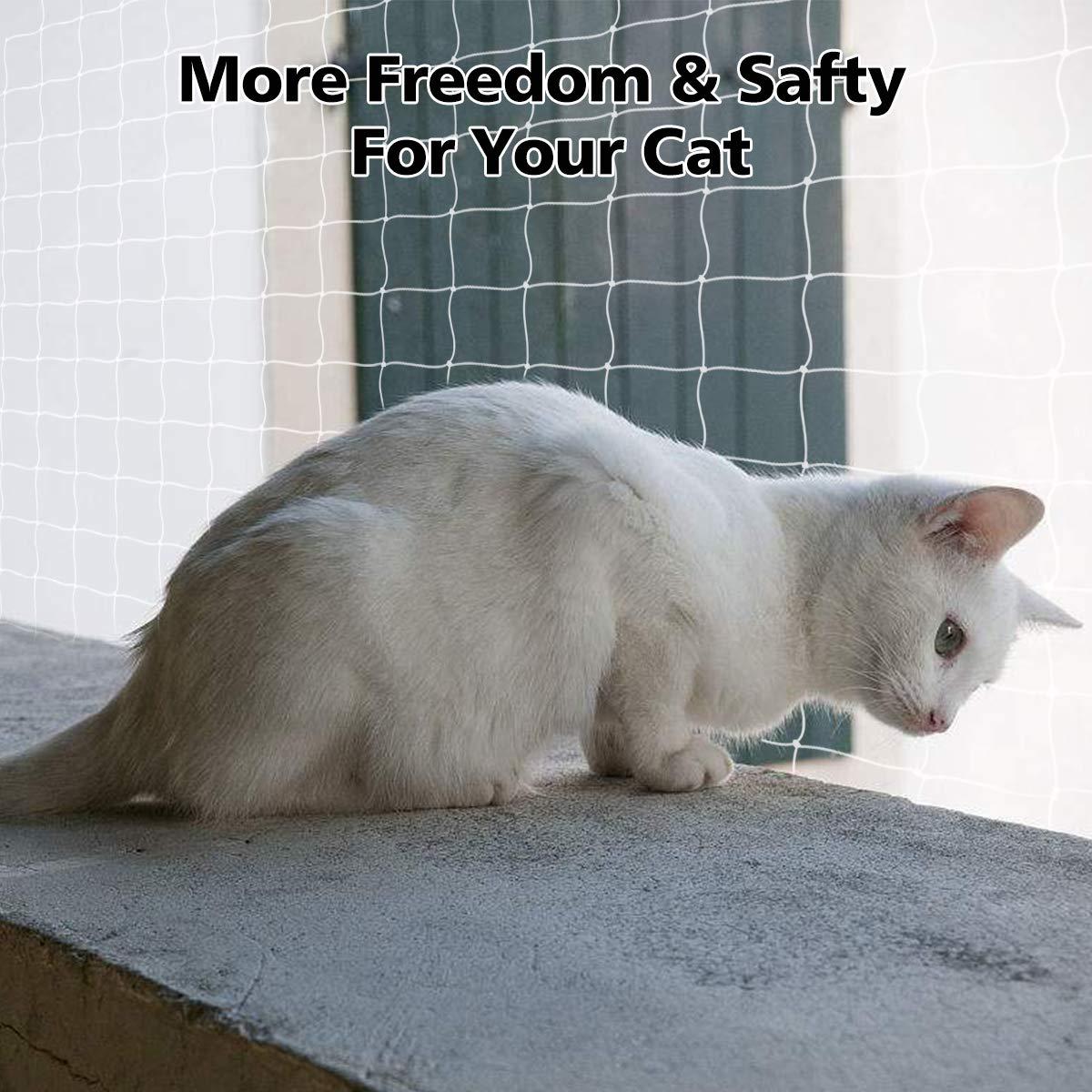 ... de la Valla de Seguridad Nylon Net Cat Accesorios de Nylon Transparente Incluyen una Cuerda de 25 Metros 20 20 20: Amazon.es: Productos para mascotas