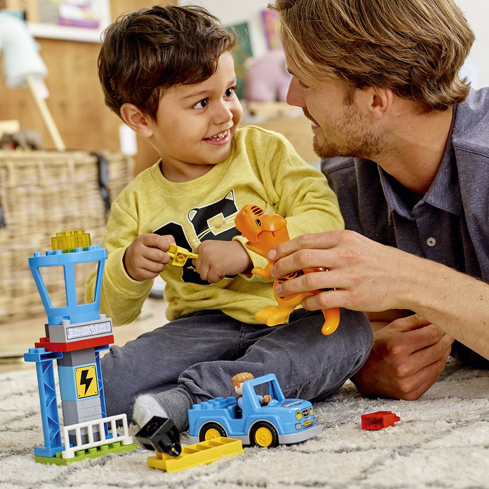 rex Tower 10880 Building Kit 22 pieces 6213747 LEGO DUPLO Jurassic World T