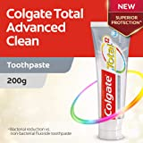 Colgate Total Advanced Clean Antibacterial Fluoride Toothpaste New and Improved, 200 grams