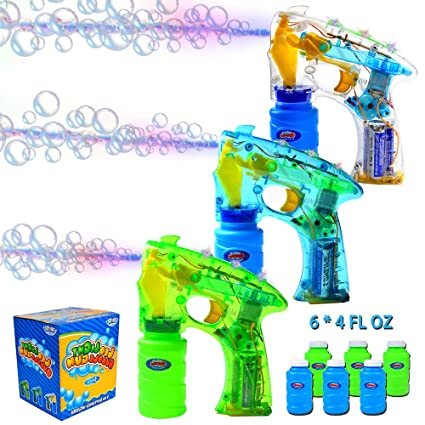 Able Kids Electric Bubble Machine Green Plastic Gun Children Water Blowing Toy Blowing Bubble Gun Play Games Outdoor Toys For Child Bubbles
