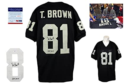 finest selection 1e155 1f9df Tim Brown Signed Custom Jersey - PSA/DNA - Autographed w ...