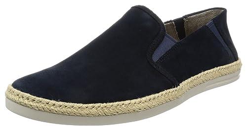 Clarks Bota Step, Alpargatas para Hombre, Azul (Navy Fabric), 45 EU