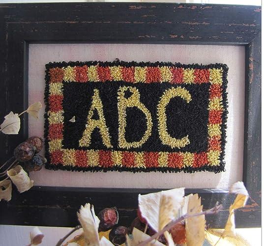 Amazon com: Punch Needle Embroidery ABC Framed Piece: Handmade