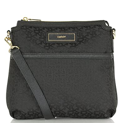 1d208dbd5b06 DKNY Black R1410703 Women s Logo Crossbody Bag Black Fabric  Amazon ...