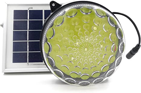 Kit de iluminación solar de exterior/interior ROXY-G2 con batería de litio, sensor fotográfico de encendido/apagado automático, control de brillo de 3 niveles, cable de 4,50 m (15 ft): Amazon.es: Iluminación