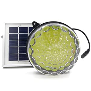 ROXY-G2 Solar Outdoor/Indoor Lighting Kit with Lithium Battery, Photo Sensor for Auto On/Off, 3-Level Brightness Control, 15ft Cable, for Garage/Workshop / Cabin/Yard / Shed Light