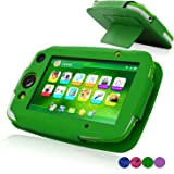 LeapFrog LeapPad Platinum Case, ACdream LeapFrog Leap Pad Platinum Tablet Leather Case Multi Function Cover With Stand (only Fit 2015 Release LeapPad Platinum Tablet) , Green