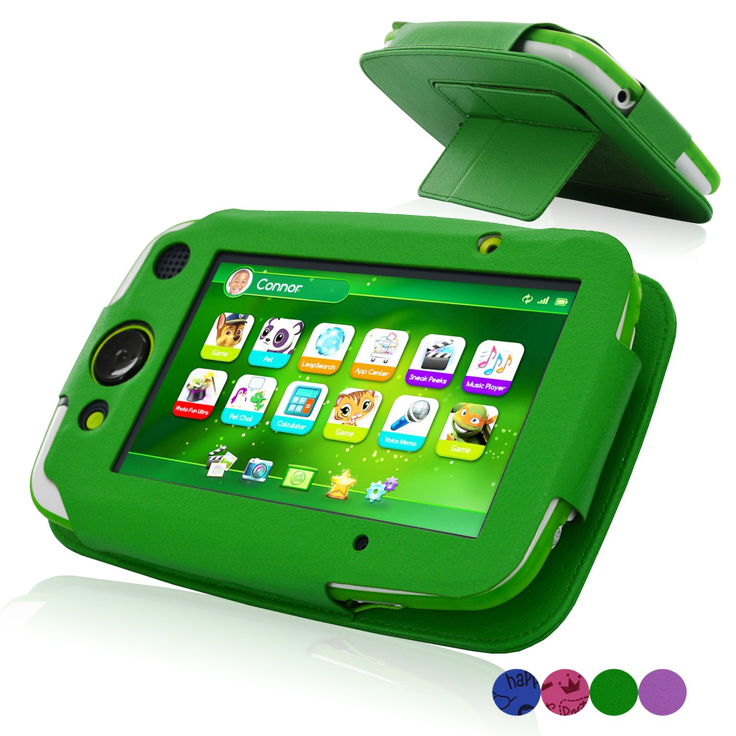ACdream LeapPad Platinum Case, PU Leather Cover Case for LeapFrog LeapPad Platinum Kids Learning Tablet (NOT FIT LeapPad3), Green by ACdream (Image #1)