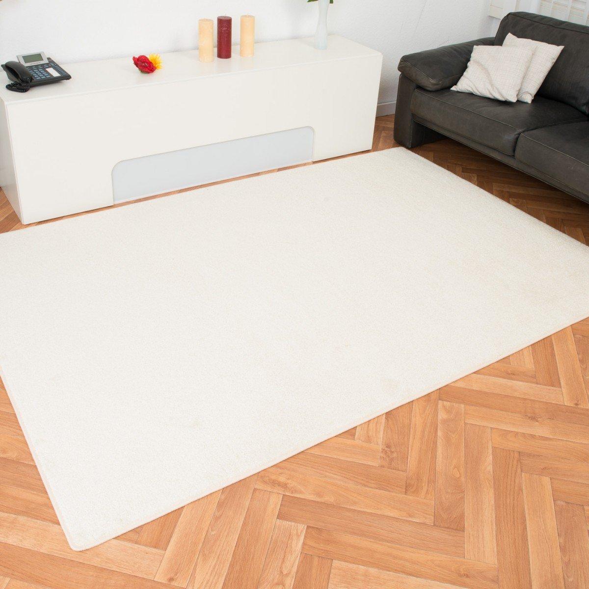 Havatex Velours Teppich Kontor - Farbe wählbar   schadstoffgeprüft pflegeleicht   robust strapazierfähig Wohnzimmer Kinderzimmer Schlafzimmer, Farbe Silber, Größe 80 x 200 cm B00ITA7UA6 Teppiche