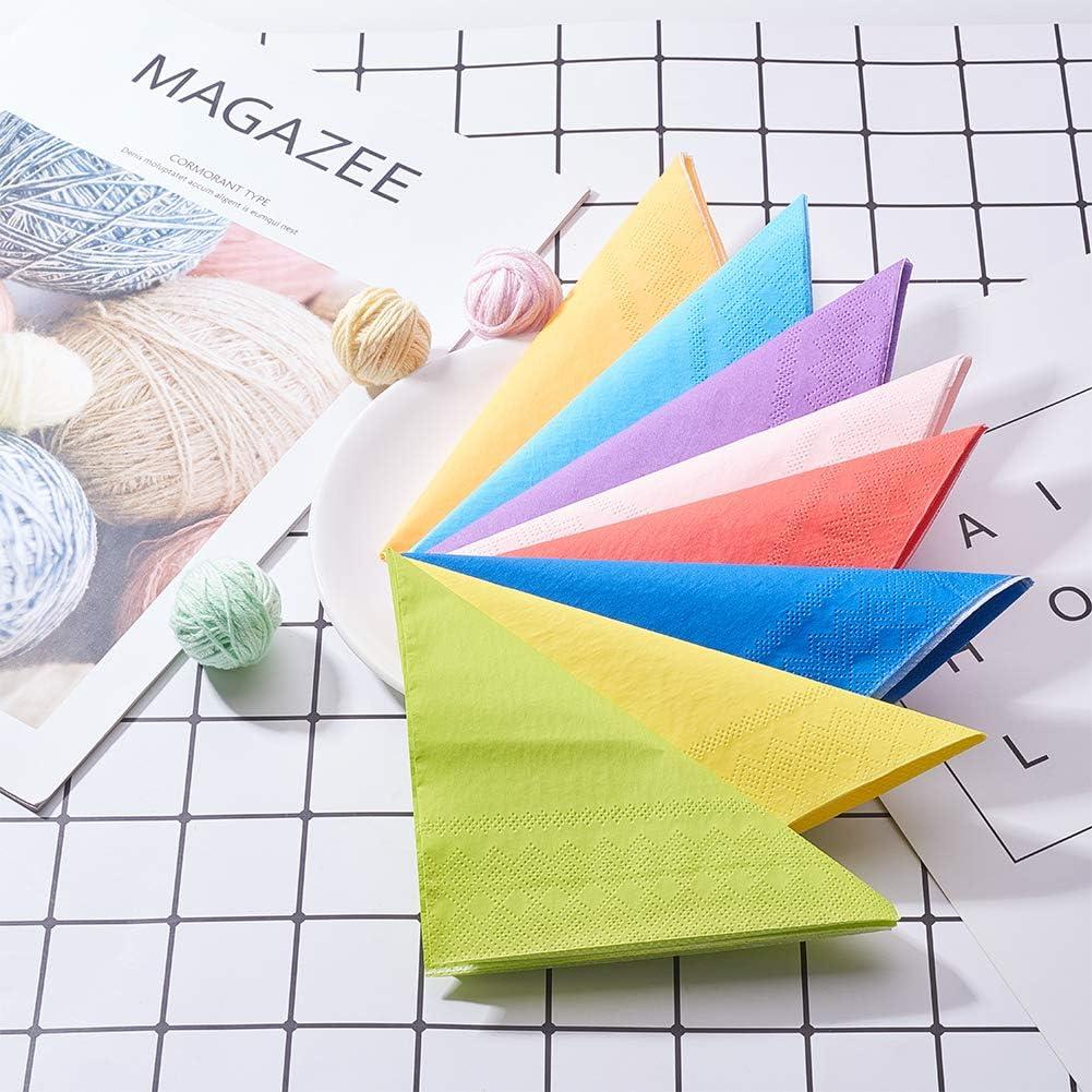 juego de 160 unidades hogar multicolor de papel suave cocina WANDIC Servilletas de papel hotel para limpiar la boca o las manos