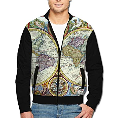 Amazon.com: SCOOLY Vintage Geography World Map Men Long ...