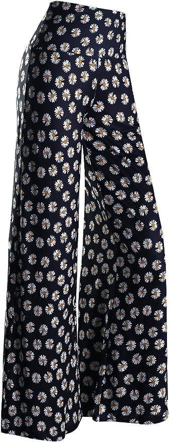 Vintage Nightgowns, Pajamas, Baby Dolls, Robes Arolina Womens Stretchy Wide Leg Palazzo Lounge Pants  AT vintagedancer.com