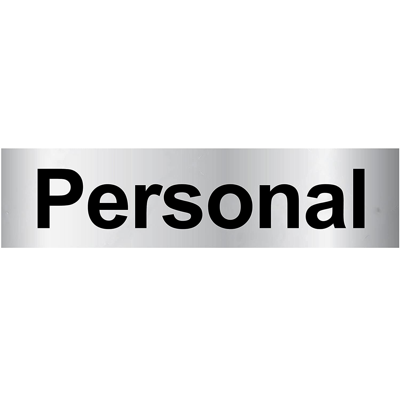 T/ürschild PVC Hinweisschild Personal 160mm x 40mm Silber//Schwarz selbstklebend