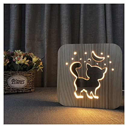 Erwa Lámparas De Mesa Cute Cat Lámpara De Escritorio LED Luz ...