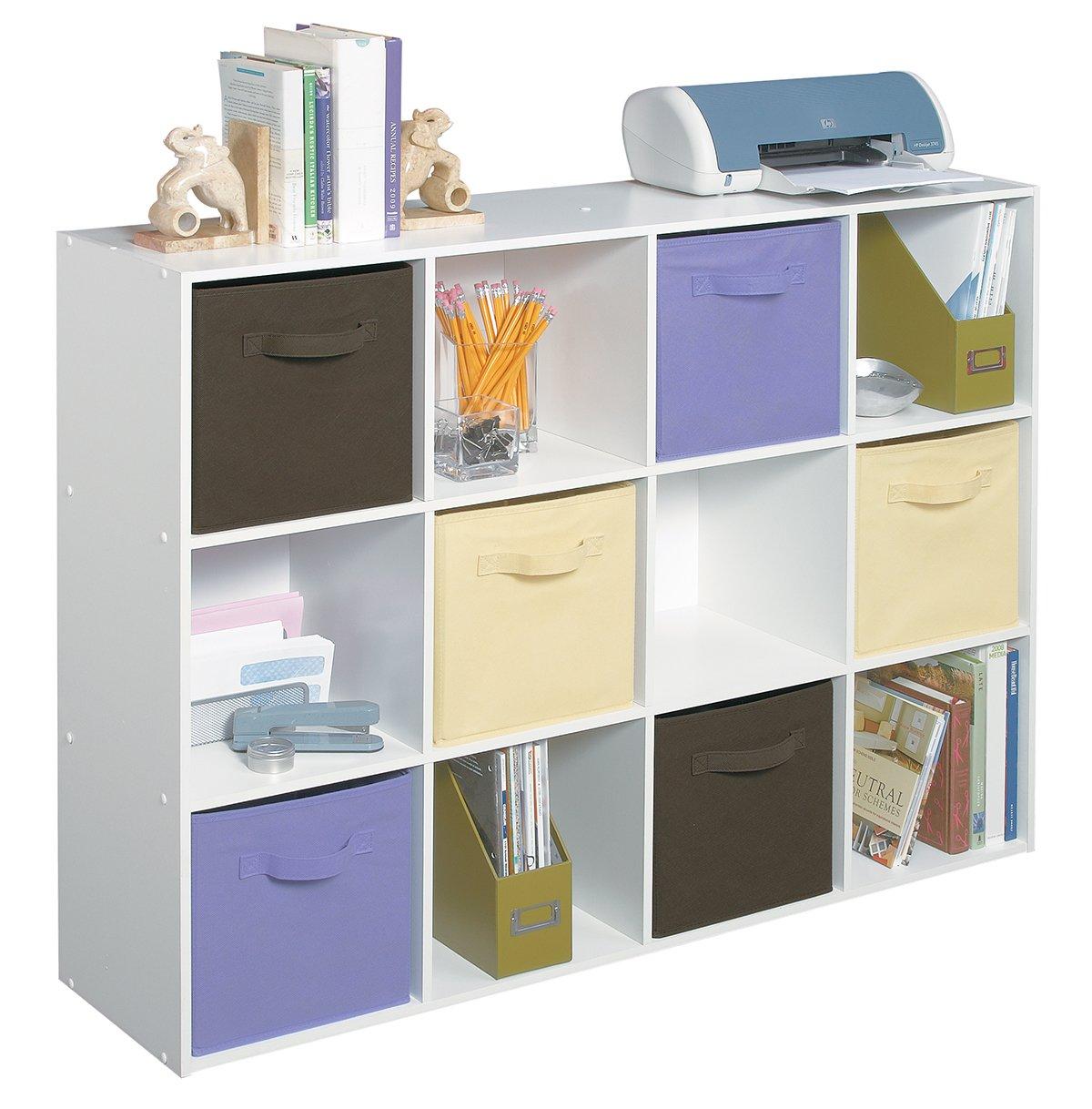 2 Set ClosetMaid 9-Cube Organizer White