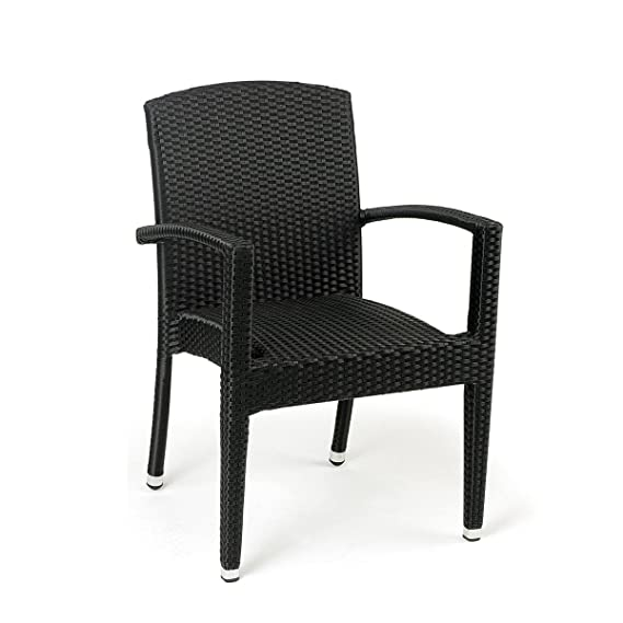 Conjunto 2 sillones ratán sintético Florencia Estilo Mimbre Trenzado de Alta Resistencia para jardín, terraza y Exterior … (Cafe)
