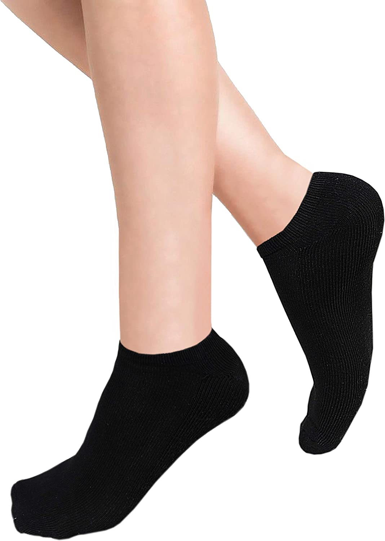Fashion Sports Socks Women Men White Grey Low Cut No Show Cotton Non Slip Flat Boat Liner socks Size 6-11 or 4-7