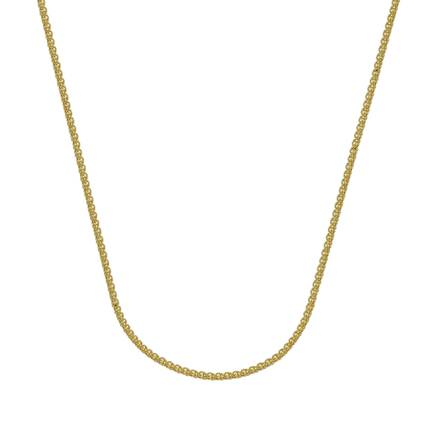CABLE CHAIN, 18KT GOLD 1.05MM CHAIN , 18 INCHES LONG