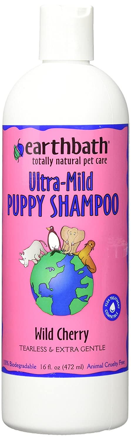 Earthbath Totally Natural Pet Shampoo, Puppy shampoo, 16 oz, Wild Cherry