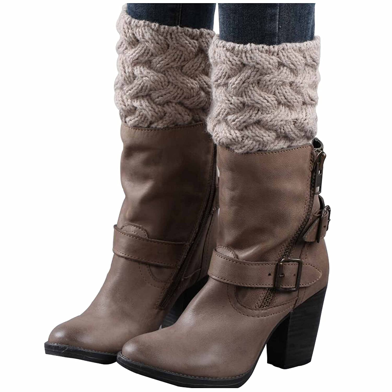 Issza Damen Gehäkelt Stricken Stulpen Socken Legwarmer Boot Abdeckung Strapsstrümpfe 1 Paar ENT-NZXL-1070