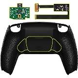 eXtremeRate Kit de remapa texturizado preto programável para controle PS5, placa de atualização e capa traseira e botões tras