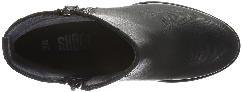SHOOT SHOOT SHOOT Damen Schuhes Sh-216004 Kurzschaft Stiefel Schwarz (schwarz Print) 3aa439